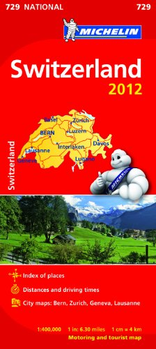 Switzerland 2012 NATIONAL Map (Michelin National Maps): Michelin