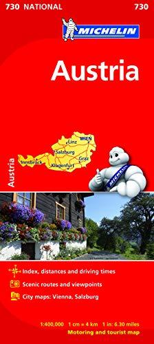 Austria. Mapa samochodowa. 1:400 000 Michelin