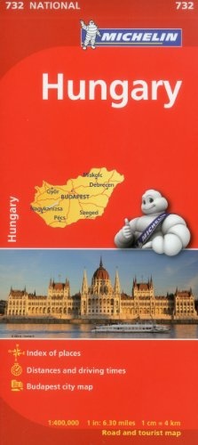 9782067171879: Michelin Hungary Map 732 (Maps/Country (Michelin))