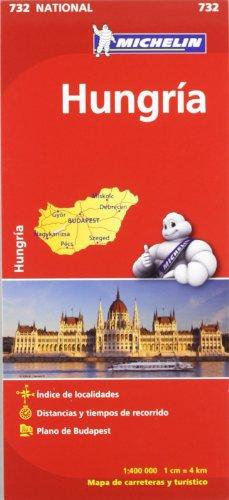 9782067171909: Hungría: Mapa National 732
