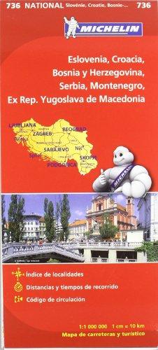 9782067171978: Mapa National Eslovenia, Croacia, Bosnia y Herzegovina, Serbia, Montenegro, Ex Rep. Yugoslava de Macedonia