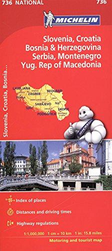 Balkans. Mapa samochodowa. 1:1 000 000 Michelin