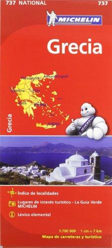9782067172043: Mapa National Grecia (Mapas National Michelin)