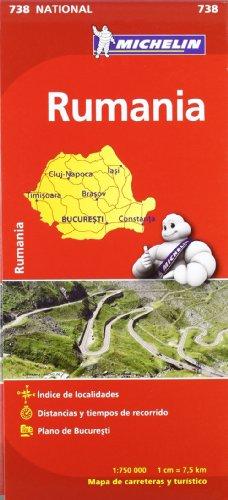 9782067172111: Mapa National Rumanía (Mapas National Michelin)