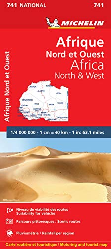 9782067172159: Michelin Africa North & West Map 741 (Maps/Country (Michelin))