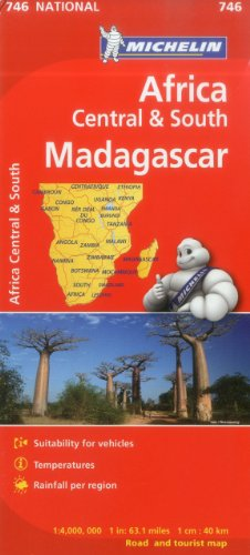 9782067172500: Michelin Map Africa Central South and Madagascar 746 (Maps/Country (Michelin))