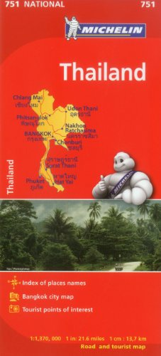 9782067172661: Michelin Map Thailand 751 (Maps/Country (Michelin))