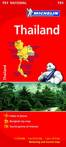 9782067172715: Thailand Map (Michelin National Map)