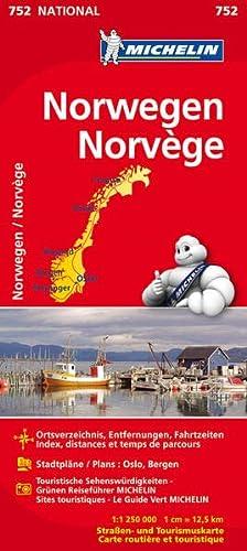 9782067172753: Norwegen 1 : 1.250 000 Nationalkarte: Ortsverzeichnis, Entfernungen, Fahrtzeiten. Stadtpläne: Oslo, Bergen