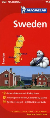 9782067172807: Michelin Sweden Map 753 (Maps/Country (Michelin))
