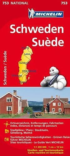 9782067172821: Schweden 1 : 1 200 000 Nationalkarte: Ortsverzeichnis, Entfernungen, Fahrzeiten / Stadtpläne: Stockholm, Göteborg, Malmö / Touristische Sehenswürdigkeiten