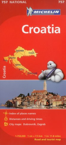 9782067173064: Michelin Croatia Map 757 (Maps/Country (Michelin))