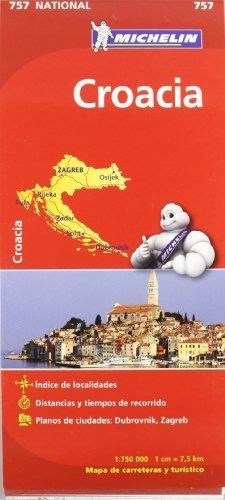 9782067173095: Croacia. Mapa National 757