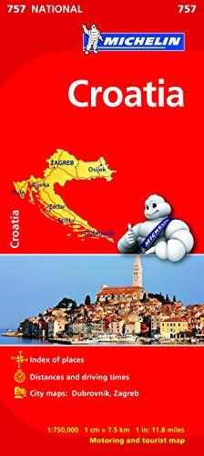 9782067173118: Croatia - Michelin National Map 757 (Michelin National Maps)