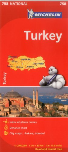 9782067173132: Michelin Turkey Map 758 (Maps/Country (Michelin))