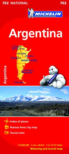9782067173392: Argentina Map (Michelin National Map)