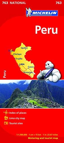 9782067173460: Peru - Michelin National Map 763 (Michelin National Maps)