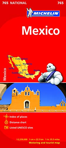 9782067173606: Mexico Map (Michelin National Map)