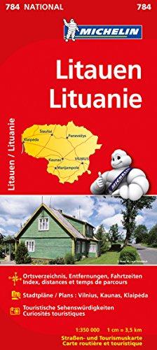 9782067173972: Michelin Nationalkarte Litauen 1 : 350 000: Ortsverzeichnis, Entfernungen, Fahrtzeiten. Stadtpläne: Vilnius, Kaunas, Klaipeda. Touristische Sehenswürdigkeiten