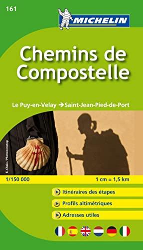Michelin Map France ZOOM : Chemins de Compostelle 161 ; le puy-en-Velay ; Saint-Jean-Pied-de-Port