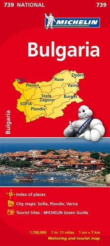 9782067174078: Bulgaria (Michelin National Maps)