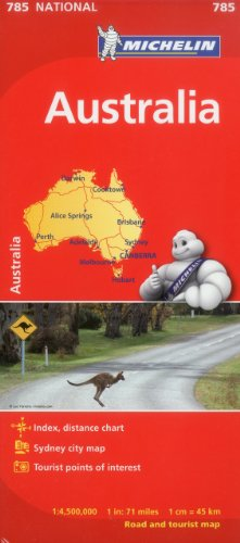 9782067174092: Michelin Australia Map 785 (Maps/Country (Michelin))