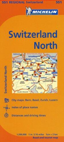 Michelin Switzerland: North Map 551 (Maps/Regional (Michelin)): Michelin