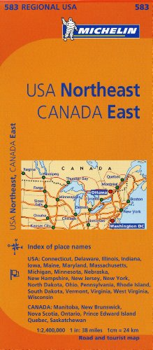9782067175235: Michelin USA Northeast, Canada East (Michelin Regional Maps)