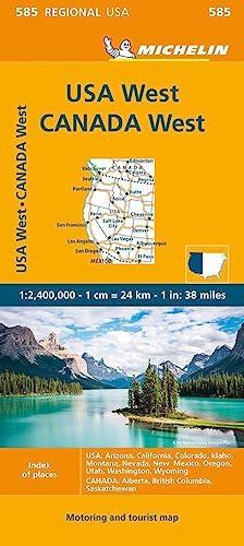 9782067175259: Michelin U.S.A. West, Canada West: Usa: Arizona, California, Colorado, Idaho, Montana, Nevada, New Mexico, Oregon, Utah, Washington, Wyoming; Canada: Alberta, British Columbia, Saskatch