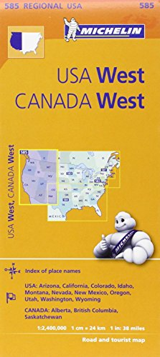 9782067175259: Michelin USA: West, Canada: West Map 585 (Maps/Regional (Michelin))