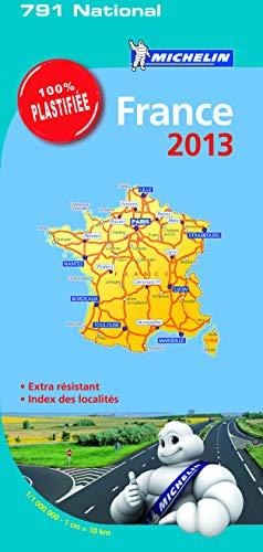 9782067181755: Carte France 2013 Michelin 100% Plastifiée
