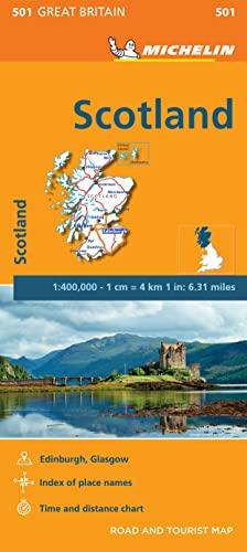 9782067183216: Scotland Map (Michelin National Map)