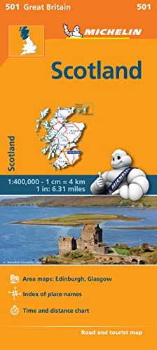 9782067183216: Scotland - Michelin Regional Map 501