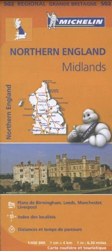 9782067183230: Carte Angleterre Nord, Midlands Michelin