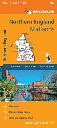 9782067183254: Mapa Regional Northern England, Midlands (Carte regionali)