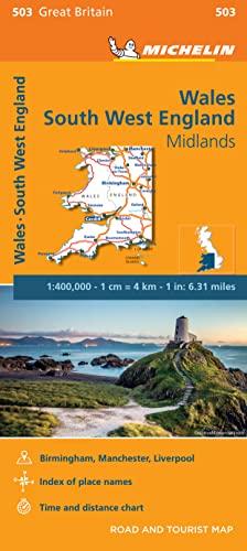 9782067183308: Mapa Regional Wales, South West England, Midlands (Carte regionali)
