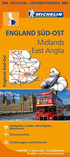 9782067183339: Michelin Regionalkarte Englands S�d-Ost, Midlands, East Anglia 1 : 400 000