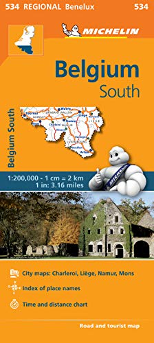 9782067183490: Belgium South - Michelin Regional Map 534 (Michelin Regional Maps)