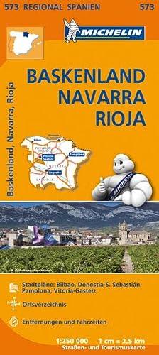 9782067184190: Michelin Regionalkarte Baskenland - Navarra - Rioja 1 : 250 000: Stadtpläne: Bilbao, Donostia-S. Sebastian, Pamplona, Vitoria-Gasteiz. Ortsverzeichnis. Entfernungen und Fahrzeiten
