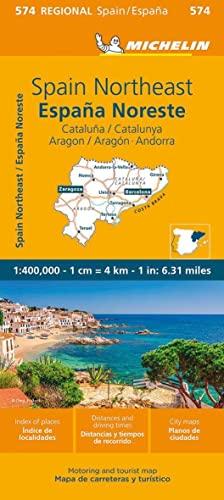 Aragon, Cataluna. Mapa samochodowa. 1:400 000 Michelin