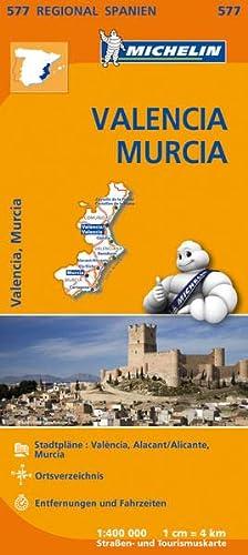 9782067184398: Michelin Regionalkarte Spanien Valencia Murcia 1 : 400 000: Stadtpläne: València, Alacant/Alicante, Murcia. Ortsverzeichnis. Entfernungen und Fahrzeiten