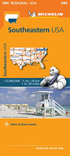 9782067184664: USA South East Map (Michelin Regional Map)