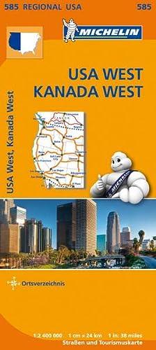 9782067184695: Michelin Regionalkarte USA West Kanada West 1 : 2 400 000: mit Ortsverzeichnis