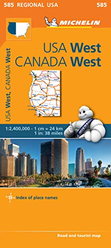 9782067184701: USA West Map (Michelin Regional Map)