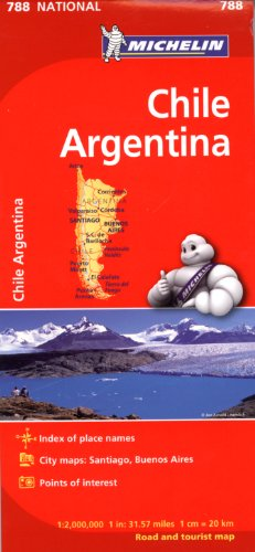 9782067185609: Michelin Chile/Argentina Map 788 (Maps/Regional (Michelin))