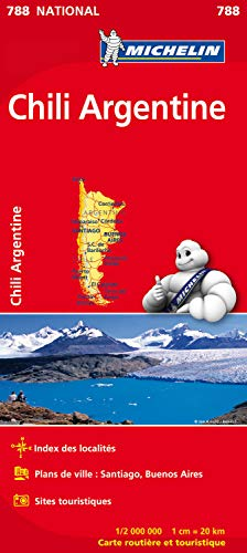 9782067185739: Carte NATIONALE Chili Argentine n°788