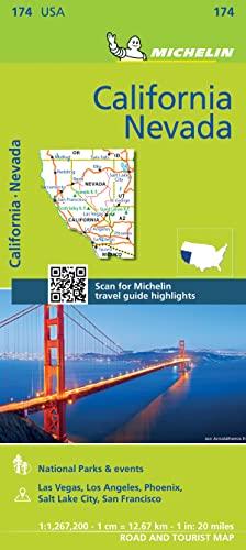 Michelin USA California, Nevada Map 174 (Michelin Zoom USA Maps): Michelin