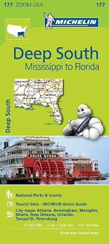 9782067190559: Deep South Michelin Zoom Map 177 (Michelin Zoom Maps)