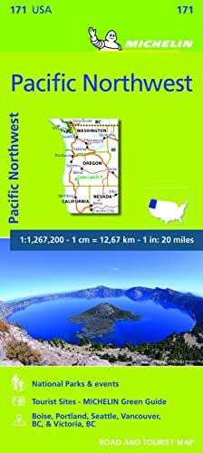 Michelin USA Pacific Northwest Map 171 (Michelin Zoom USA Maps)