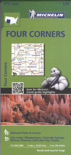 Michelin USA Four Corners Map 175 (Michelin Zoom USA Maps)